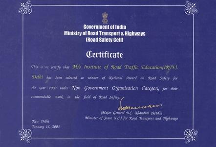 IRTE Institute of road traffic education in India | traffic